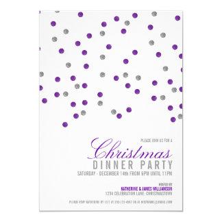 Sparkly glitter pricker julpartyinbjudan 12,7 x 17,8 cm inbjudningskort
