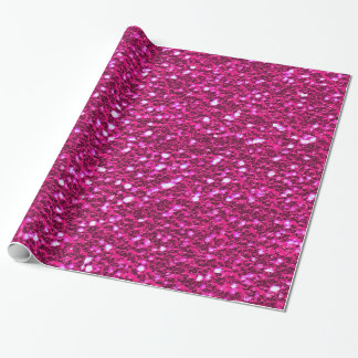 Sparkly Glittery för shock rosa flickaktigt Presentpapper