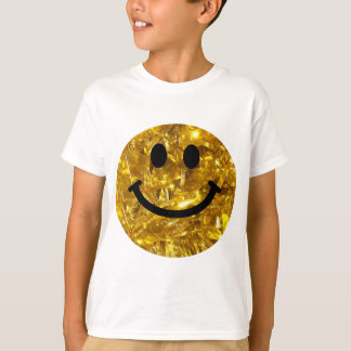 Sparkly guld- Bling Smiley T-shirt