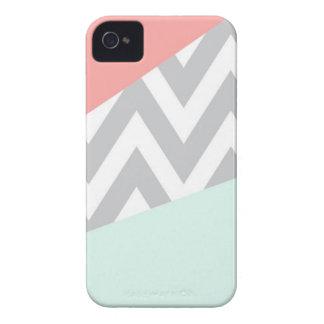 Sparre för korall- & Mintfärgkvarter iPhone 4 Case-Mate Skydd