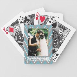Sparre inramat foto som leker kort spelkort