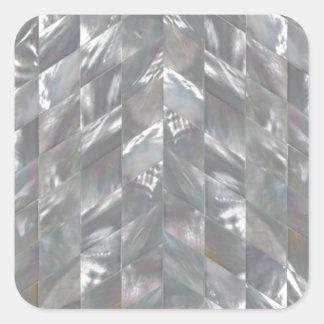 Sparremor av pärlan fyrkantigt klistermärke