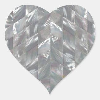 Sparremor av pärlan hjärtformat klistermärke