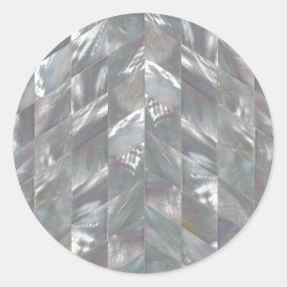 Sparremor av pärlan runt klistermärke