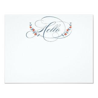Sparren & blommor noterar kort (TBA) | TWWS 10,8 X 14 Cm Inbjudningskort