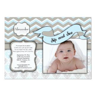 Sparresmutten och ser mallen för nyfödd 12,7 x 17,8 cm inbjudningskort