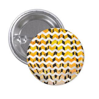 Sparretigersvart och orange tryck mini knapp rund 3.2 cm