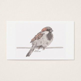 Sparrowbokmärke Visitkort