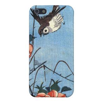Sparrows och vilden steg, Hiroshige iPhone 5 Cover