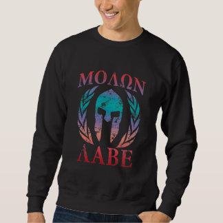 Spartansk hjälm för Molon Labe Grunge Sweatshirt