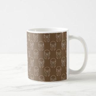 Spartansk hjälm - vit 11 uns klassikermugg kaffemugg