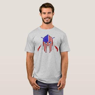 Spartanska RWB korgevär för amerikan T Shirt