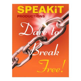 SPEAKiT befordrings- reklamblad Reklamblad 21,5 X 30 Cm