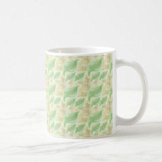 Specialtillverkar det små mönster för mjukt grönt vit mugg