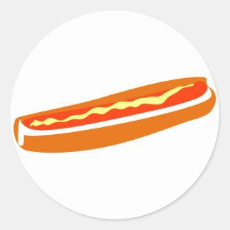 Speciell Hotdog Runt Klistermärke