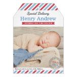 Speciell leverans för fototillkännagivande för föd anpassade inbjudan