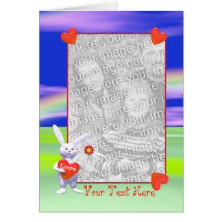 Speciell valentinkanin (fotomallen) hälsningskort