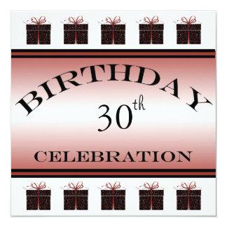 Speciella inbjudningar för presenter30års