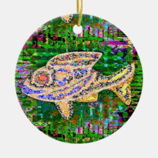 Speciellt vatten- husdjur för guld- fisk julgransprydnad keramik