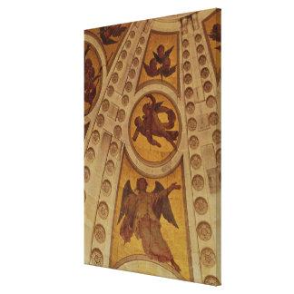 Specificera av änglar från kupolen, byggt 1635-42 canvastryck