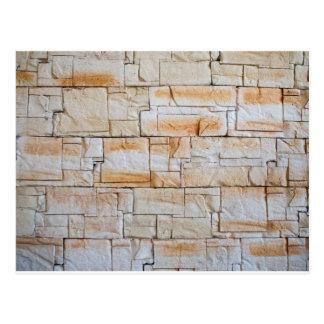 Specificera av en dekorativ vägg av limestone vykort