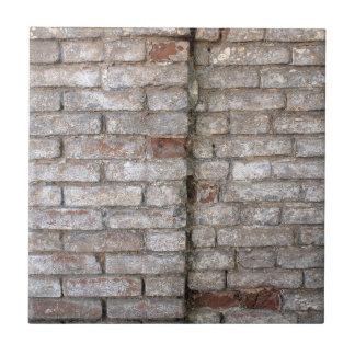 Specificera av en vägg av en gammal röd tegelsten kakelplatta