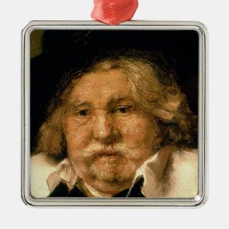 Specificera av ett porträtt av en gamal man, 1667 julgransprydnad metall