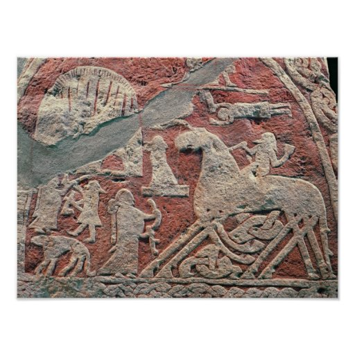 Specificera av figurer som illustrerar en saga posters