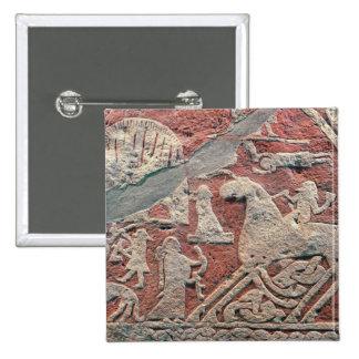 Specificera av figurer som illustrerar en saga standard kanpp fyrkantig 5.1 cm