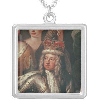 Specificera av George mig från den målade Hallen Silverpläterat Halsband