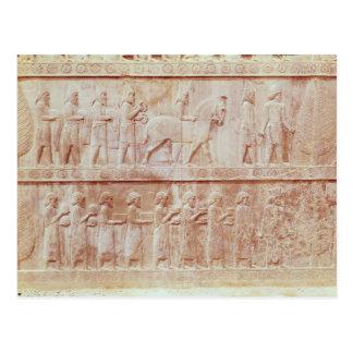 Specificera av lättnadsfrisen på öster vykort