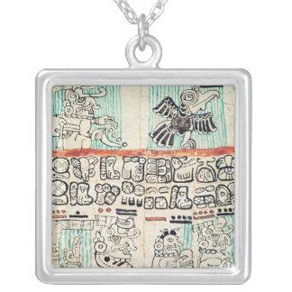 Specificera från en Mayan codex Silverpläterat Halsband