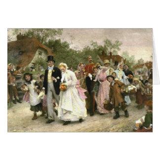 Specificera från ett bybröllop av Luke Fildes OBS Kort