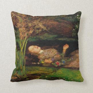Specificera från Ophelia av John Everett Millais Kudde
