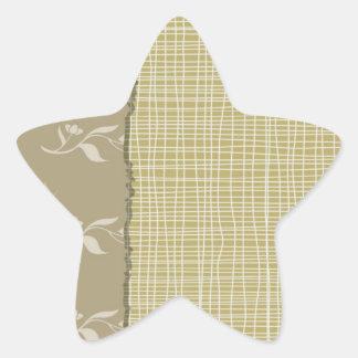 Specificerad vit dragar på bleken - grön tygLook Stjärnformat Klistermärke