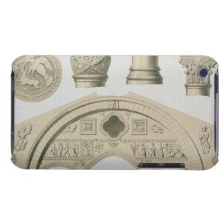 Specificerar av en skulpterad båge och kolonner iPod touch skydd