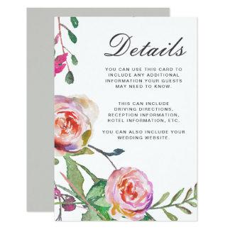 Specificerar den blom- bröllopgästen för 8,9 x 12,7 cm inbjudningskort