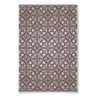 Specificerat mönster för blom- tapet fototryck