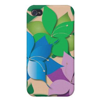 Speckfodral för blom- design iPhone 4 skal