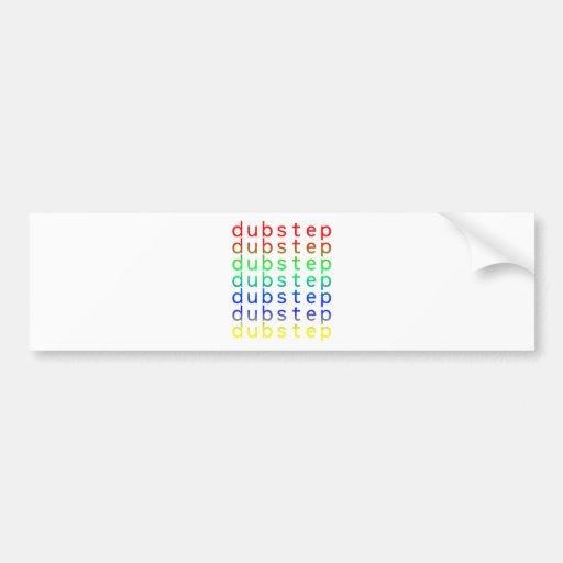 Spectrum för Dubstep textfärg Bildekal