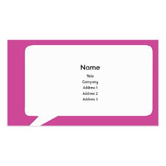 Speechbox - affär set av standard visitkort