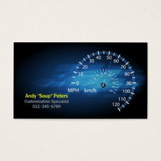 Speedometer för mekanikervisitkortr/min visitkort