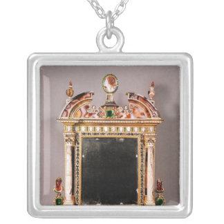 Spegel av Marie de Medici Silverpläterat Halsband