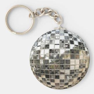 Spegelboll Keychain Rund Nyckelring
