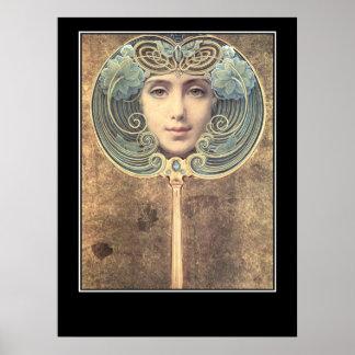 Spegelspegelvintage affisch