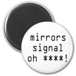 speglar signalerar oh ****! magnet rund 5.7 cm