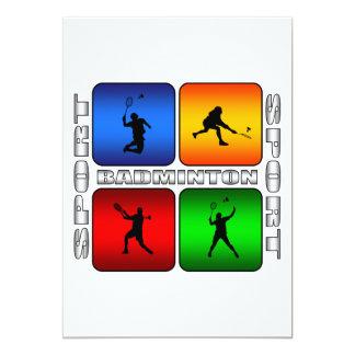 Spektakulär Badminton 12,7 X 17,8 Cm Inbjudningskort
