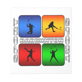 Spektakulär Badminton Anteckningsblock