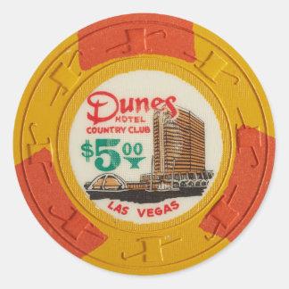 Spela för kasino för Las Vegas pokerchip som är Runda Klistermärken