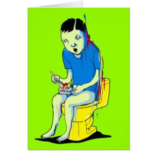 Spela på toaletten hälsningskort